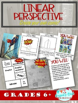 Linear Perspective: One point & two point perspective Comic