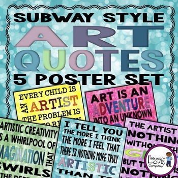Art Quote Posters - Subway Style