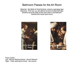 Art Room Bathroom Pass