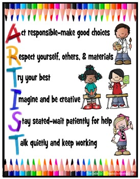 Art Room Poster Rules - Version 2