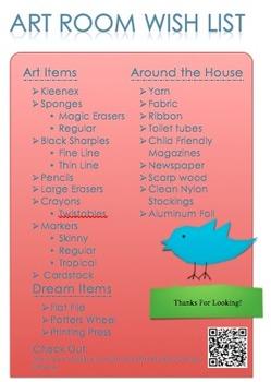 Art Room Wish List