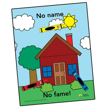 Art Rules Poster - No Name No Fame - Elementary Arts