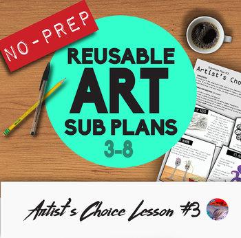 Art Sub Plans #3 - Reusable & No-Prep!