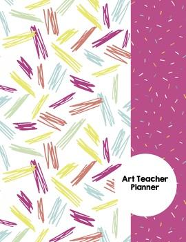 Art Teacher Planner K-8 - Pink Confetti