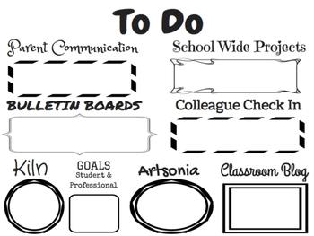 Art Teacher To Do List