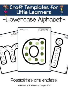 Craft Templates for Little Learners_Lowercase Alphabet