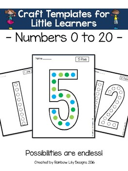Art Templates for Little Learners_Numbers 0 to 20