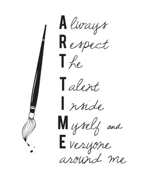 Art Time Acronym Poster