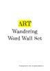 Art Wandering Word Wall Set