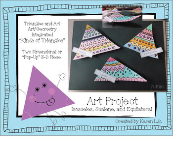 Art and 3 Kinds of Triangles/Integrated Art with Geometry