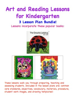 Art and Reading Lessons for Kindergarten - Three Lesson Pl