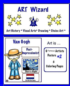 Art Posters ... 6 Famous Artists Posters & Coloring Pages