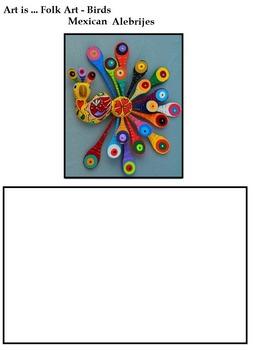 Art Science ... Birds in Folk Art (7 Printables with Teach