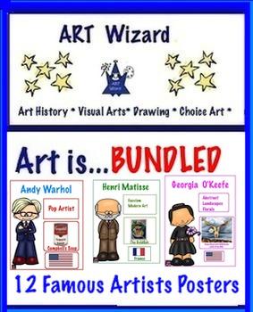 Art Posters ...  Bundled  12 Famous Artists Posters (Set 1