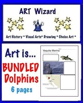 Art Science ...Bundled Dophins    (6 Printable Pages)
