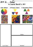 Art Elements -  Color in Laurel Burch's Art (7 Printable W