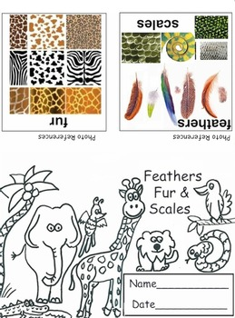 Art ... FREE!  Animals: Feathers, Fur & Scales Mini Book (