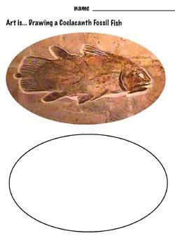 Art Rocks ... Free  Scientific Drawing:  The Coelacanth  F