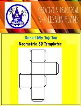 Geometric 3D Templates for Art  (15 Printables)