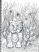 Art Science ... Jungle Animals Coloring Pages (7 Original