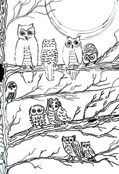 Art is ... Line Art Coloring Book (6 pages) Zoo, Cars, Hea