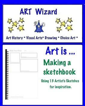 Art Making an Art Sketchbook Using 13 Artists' Sketches as