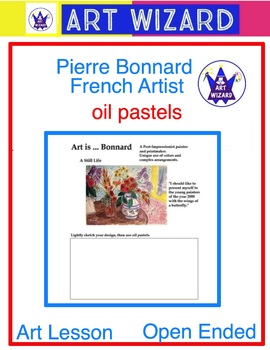Pierre Bonnard (3 Printable Pages & 1 Oil Pastel Technique
