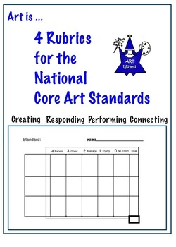 Art is ... Rubrics for use with National Core Art Standard