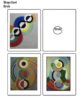Art Elements - 2D Shape Matching Cards with Famous Artwork