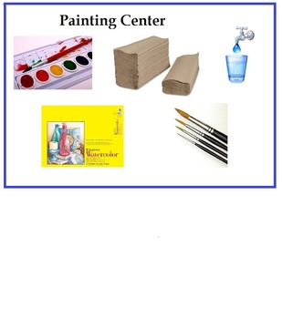 Art is ...Watercolor Art Center (Sign, Vocabulary & Proced