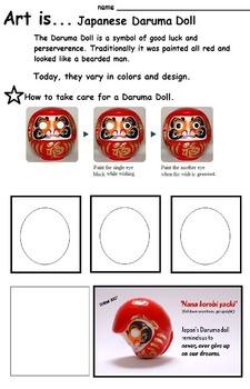 Art is...Japanese Daruma Dolls (5 Printables)