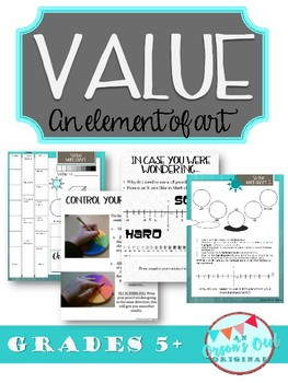 How to use VALUE (an Element of Art) to draw in 3-D