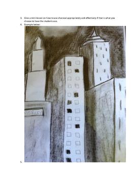 Art lesson-Shape- City Scape (Tar Beach)(lesson 6) Grade 2