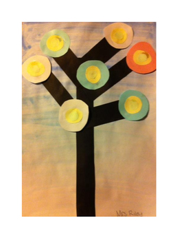 Art lesson- Shape- Kandinsky Trees (lesson 6) Grade 1