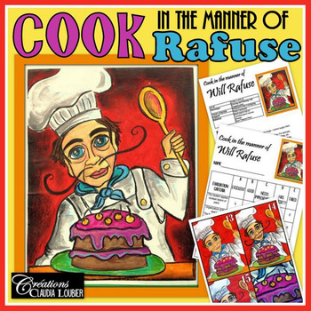 Art Lesson Plan for kids: Cook in the Manner of Will Rafuse