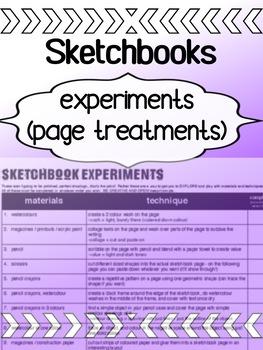 Art - sketchbook experiments