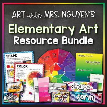 Art with Mrs. Nguyen's Growing Elementary Art Bundle