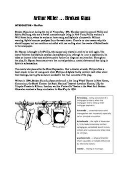 Arthur Miller - Broken Glass - Study Pack