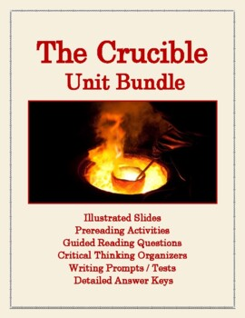 Complete Unit for The Crucible: Background, Questions, Pro