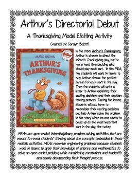 Arthur's Directorial Debut: A Thanksgiving MEA (Model Elic