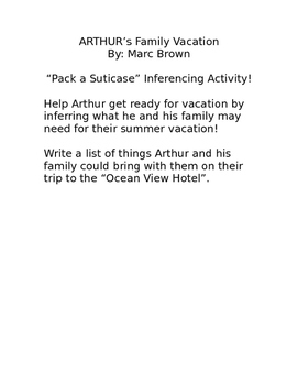 Arthur's Family Vacation Inferencing Activity
