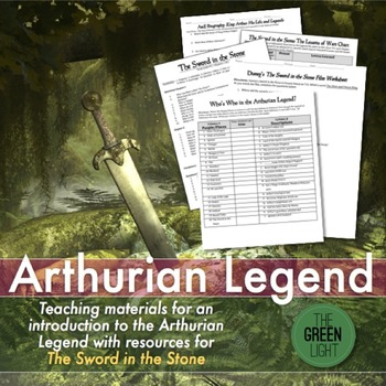 Arthurian Legend and The Sword in the Stone Worksheets and