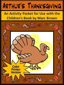 Thanksgiving Reading Activities: Arthur's Thanksgiving Act
