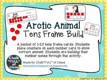Arctic Animals Tens Frame Build [Building Number Sense]