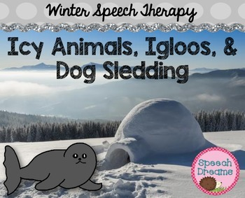 Winter Speech Therapy Unit {Games Activities Lesson Plans