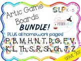 Artic Game Boards Bundle Set for Speech Therapy