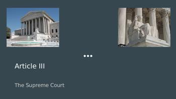 Article III: The Judiciary