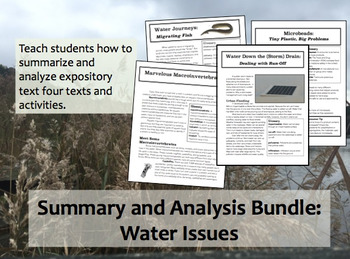 Summary and Analysis Bundle: Water Issues