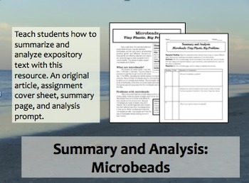 Summary and Analysis: Microbeads