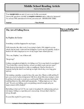 Article of the Week - The Art of Falling Down